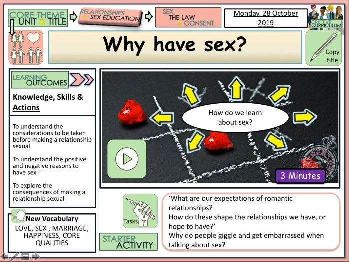 Why have sex ? PSHE