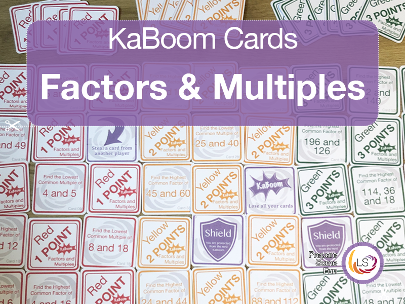 Factors and Multiples UK version | Card Game
