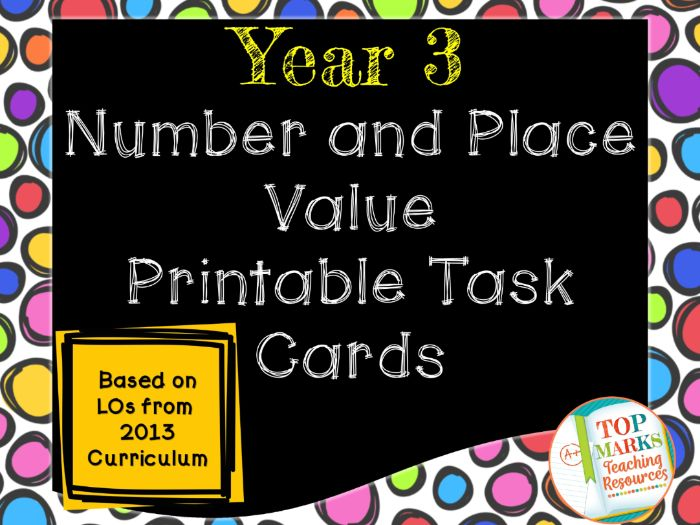 Year 3 Number and Place Value Starters/Task Cards (Growing Bundle)
