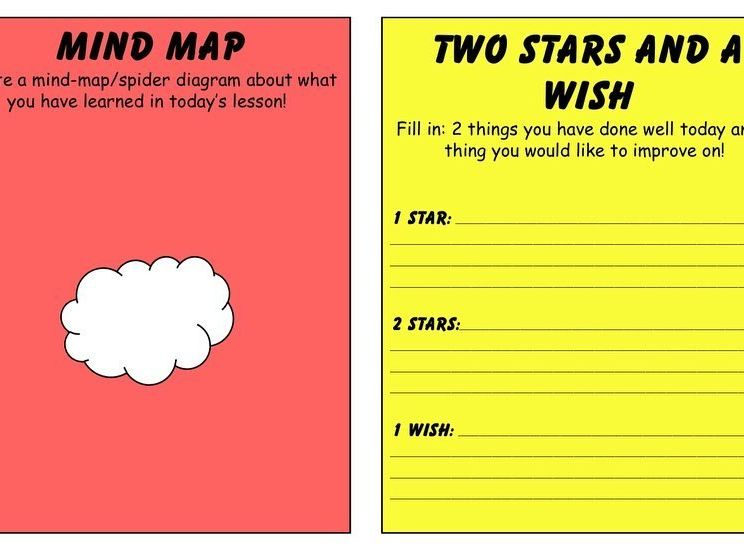 Plenary Cards aided worksheets