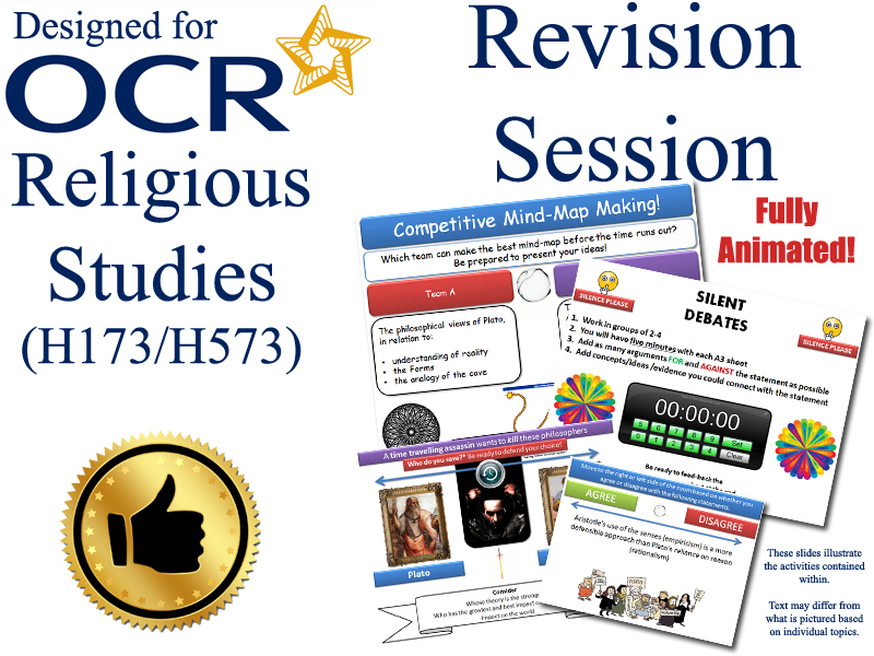 Islam A2 6 x Revision Sessions for OCR Religious Studies (Exam Preparation) For the new OCR RS Specification. Covers the A2 'Developments in Islamic Thought' section of the specification.