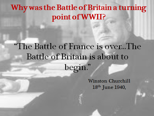 Why was the Battle of Britain a turning point in WWII?