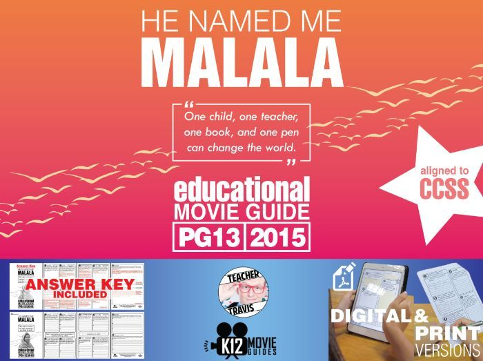 He Named Me Malala Movie Guide | Questions | Worksheet (PG13 - 2015)