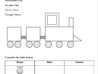 2D Shape Sheet Activity