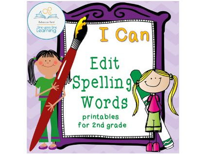Edit Spelling Words Practice for Second Grade