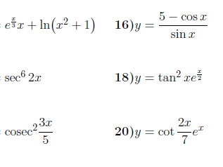 3 Differentiation worksheets (with answers)