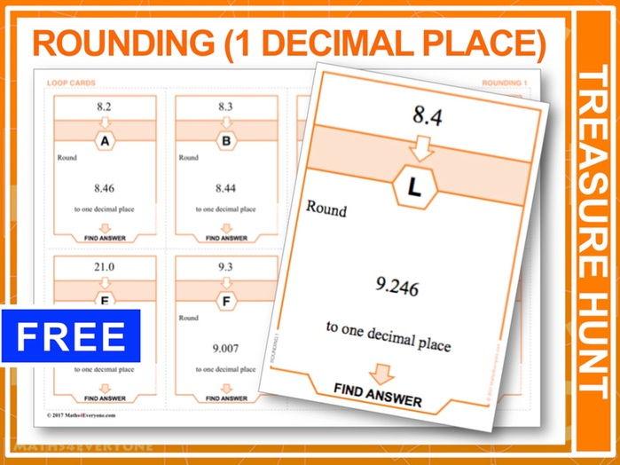 Rounding to one decimal place (Treasure Hunt)