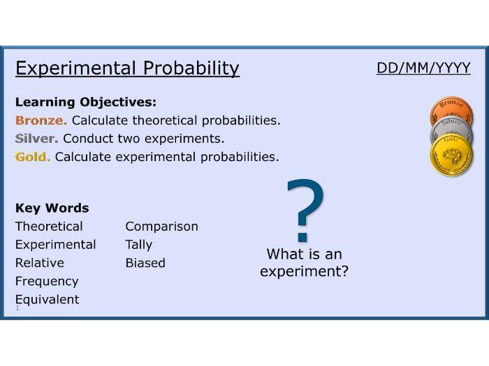 Probability 06/13 Experimental Probability