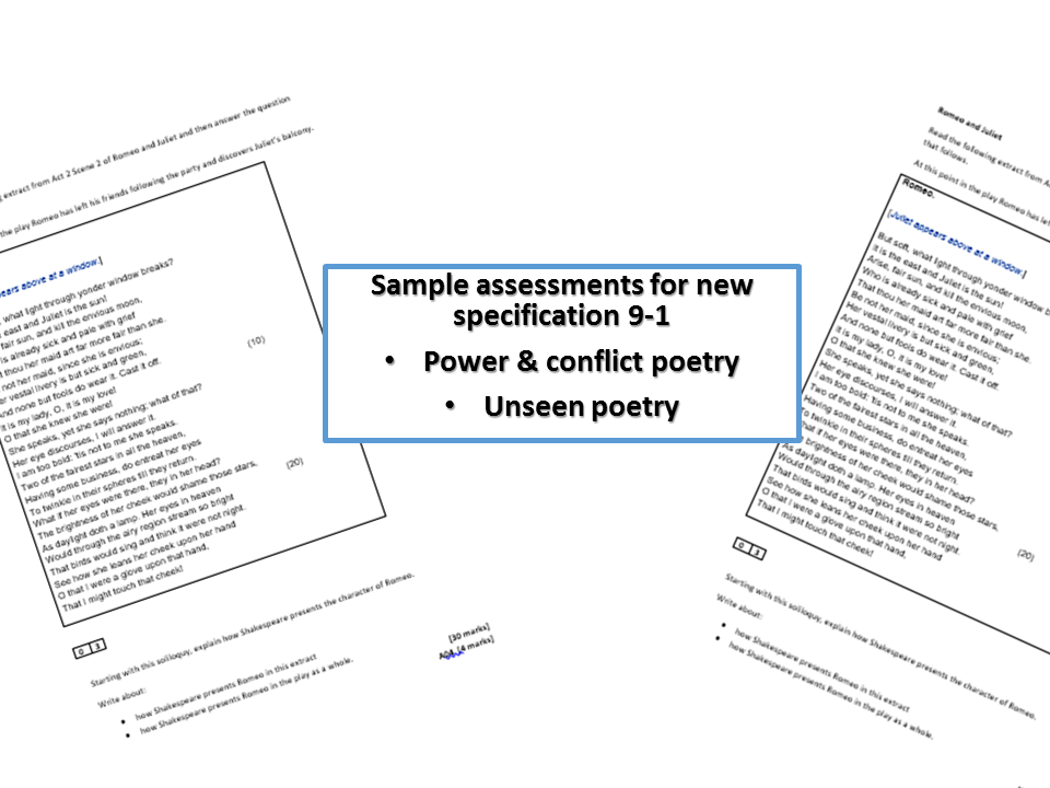 AQA power and conflict - 6 sample exam questions - specimen assessment materials - new specification