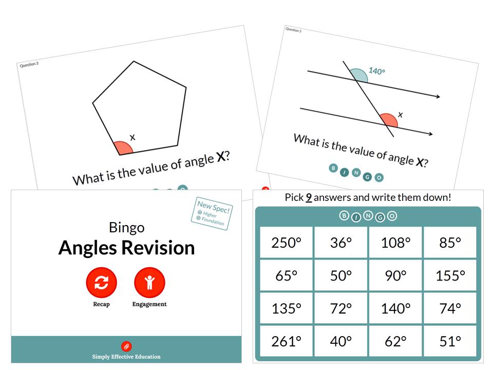 Angles Revision (Bingo)