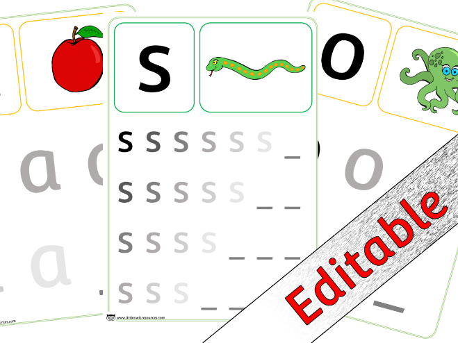 Phase 2 Letters and Sounds Writing - Editable