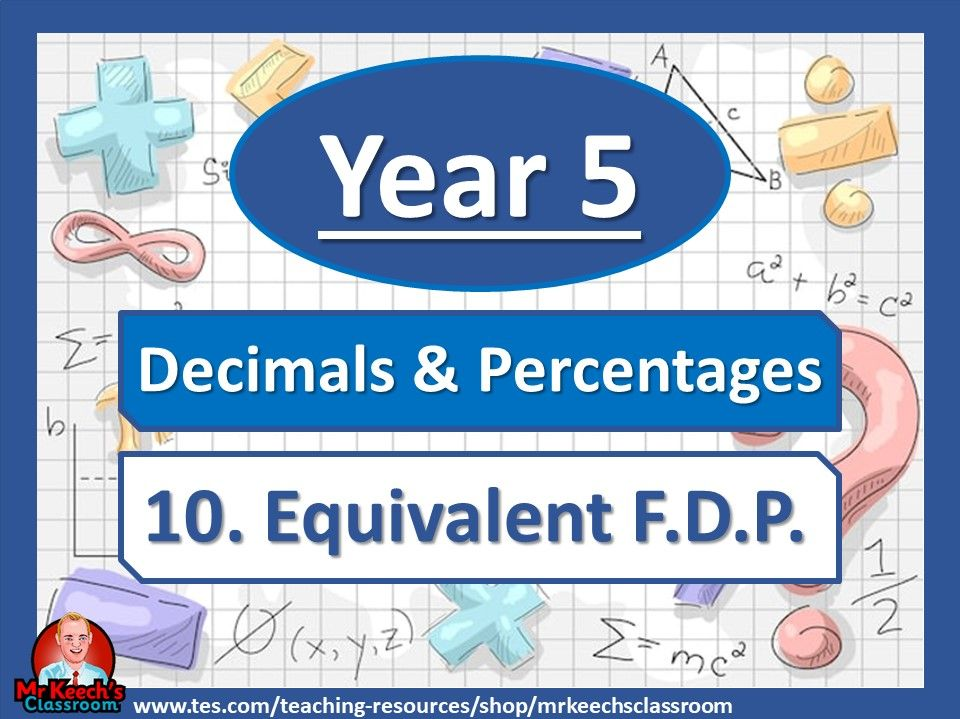 Year 5 – Decimals and Percentages – Equivalent FDP- White Rose Maths