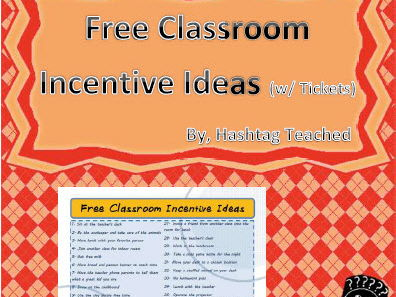 FREE Classroom Incentive Ideas (w/ individual tickets) for Extrinsic Motivators