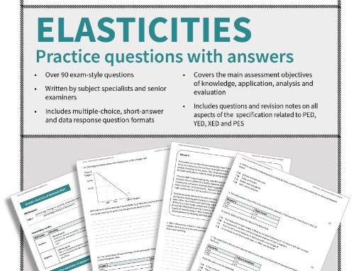 Elasticities (PED, PES, XED, YED) - questions and answers (student friendly)