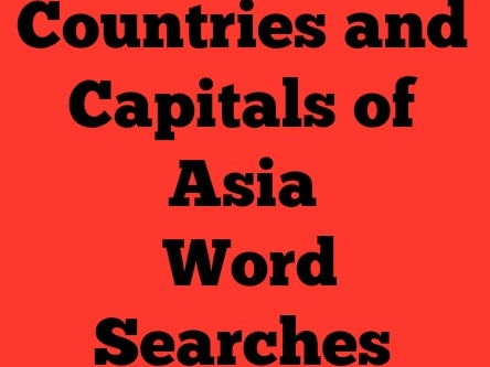 Countries and Capitals of Asia