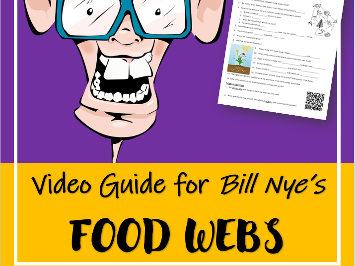 FOOD WEBS (Video Guide): Bill Nye the Science Guy | Distance Learning