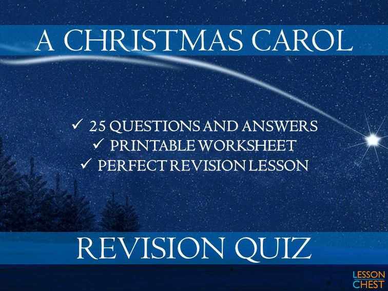picture about Christmas Carol Trivia Printable named A Xmas Carol Quiz