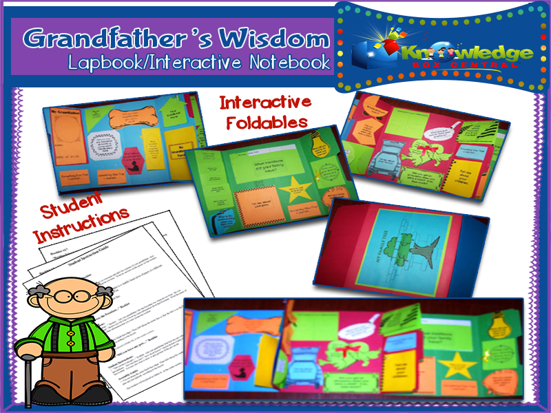 Grandfather's Wisdom Interview Lapbook