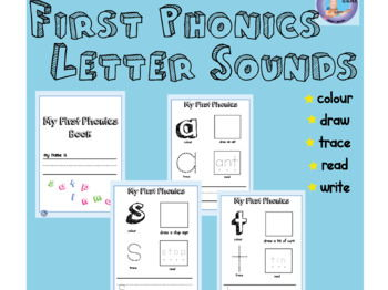 Letters and Sounds Phonics Book - Phase 2 First Sounds: read,draw, colour, trace