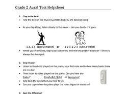 ABRSM Grade 2 Aural help sheet