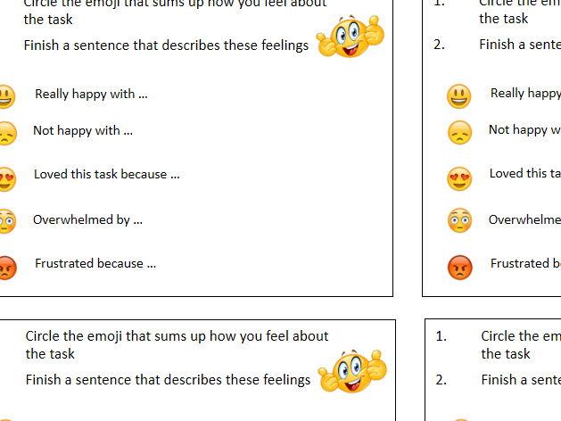 Emoji assessment task