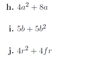 Algebra worksheet (with solutions)