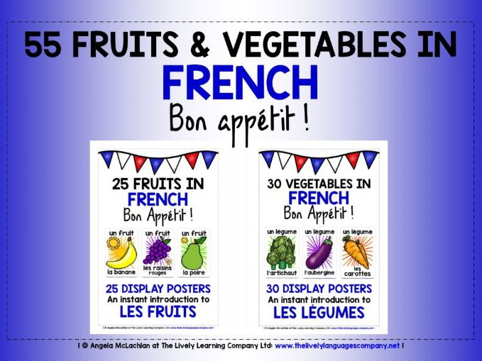 FRENCH FRUIT & VEGETABLES - 55 POSTERS PACK