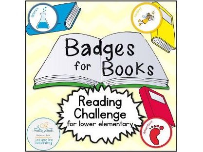 Badges for Books Reading Challenge and Genre Exploration (lower elementary)