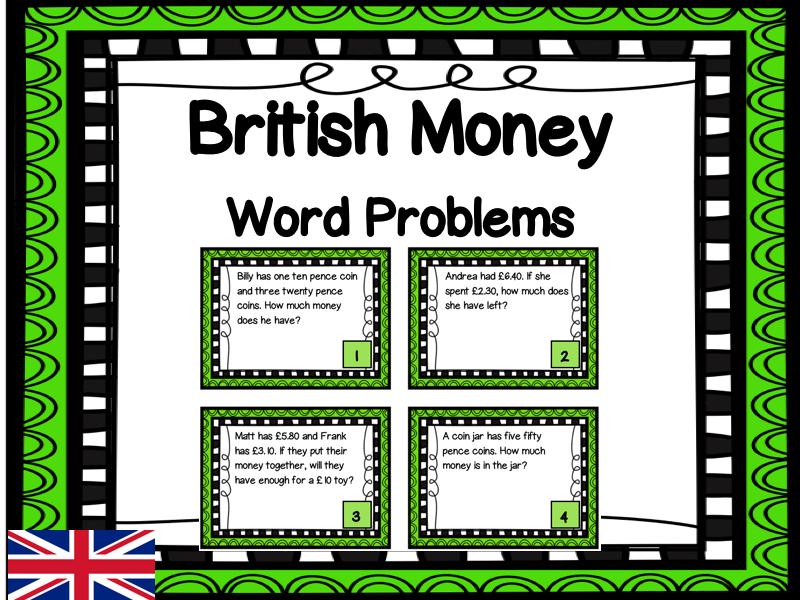 UK Money Task Cards