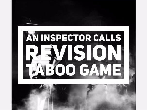 An Inspector Calls - Taboo Revision Quiz