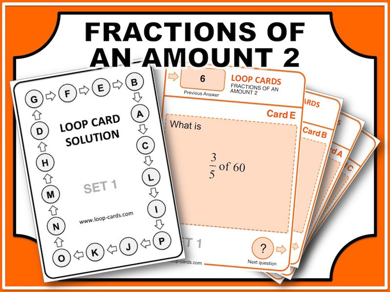 Loop Card Races (Fractions of an Amount 2)