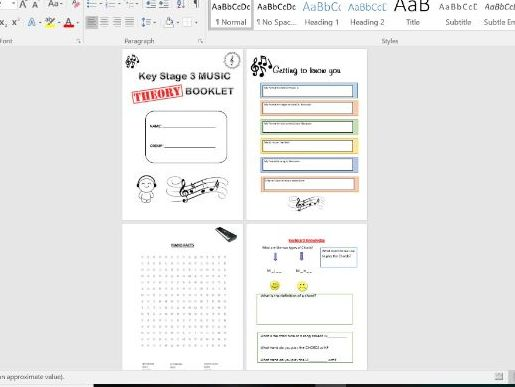 music theory book key stage 3, key vocabulary, instruments