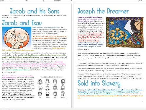 Genesis: Jacob and His Sons: Differentiated Information and Activity Sheets
