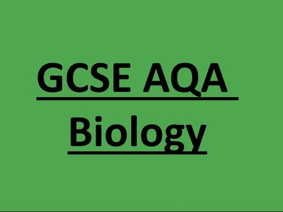 AQA GCSE Biology: Cell structure and transport Knowledge booklet