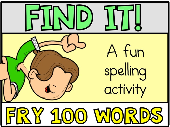 Tiny Word Hunt FRY 100 Words