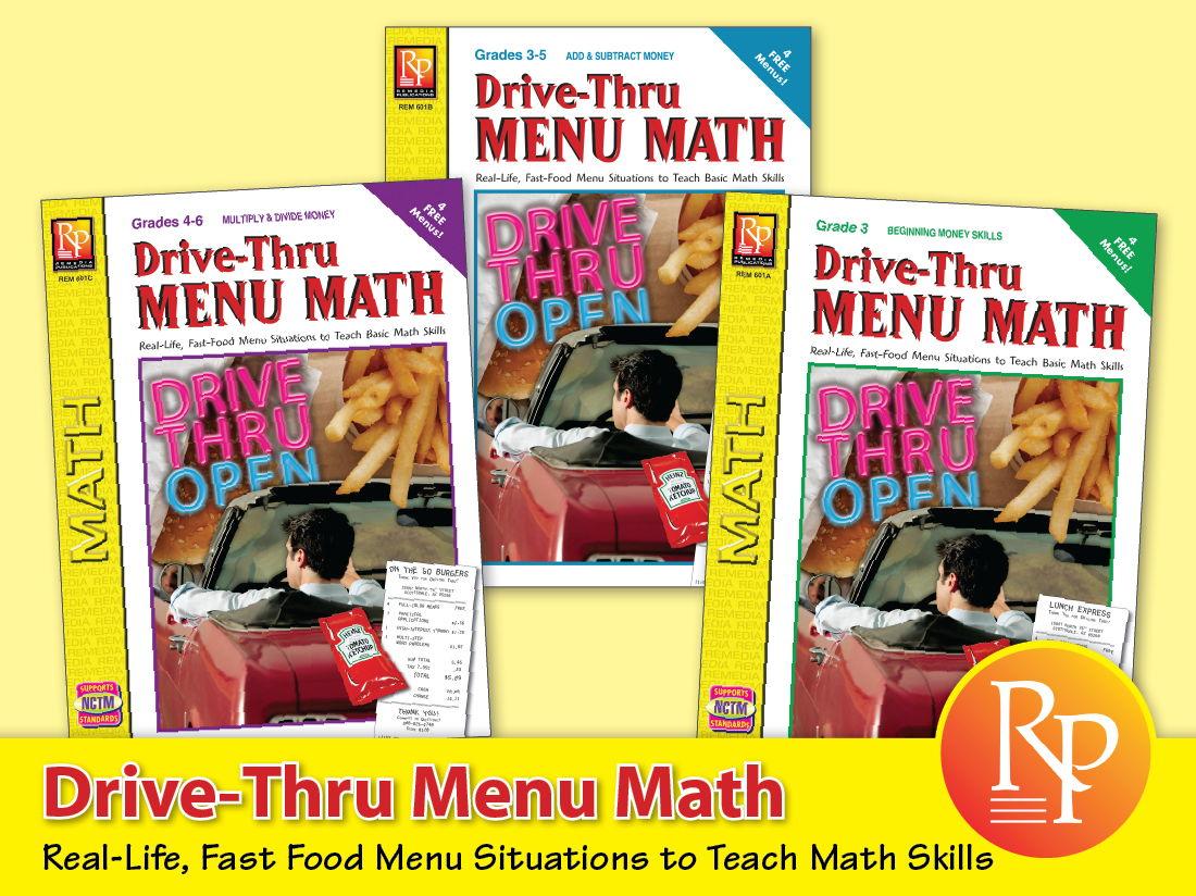 Drive-Thur Menu Math {Bundle}