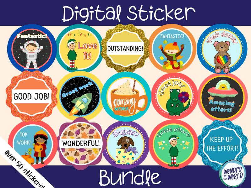 Digital sticker bundle (for online or distance learning)