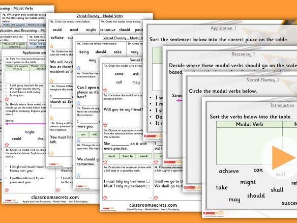 Grammar Year 6 Modal Verbs Autumn Block 1 Step 2 Lesson Pack