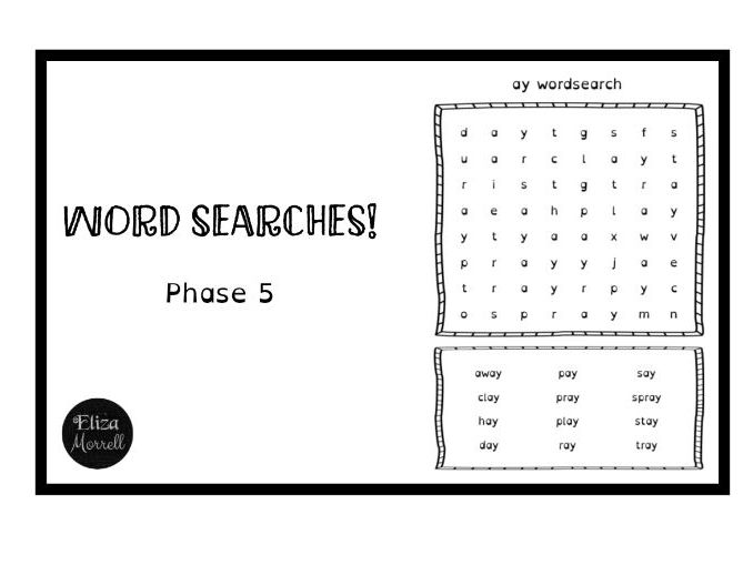 Phonics - Phase 5 - Word Searches
