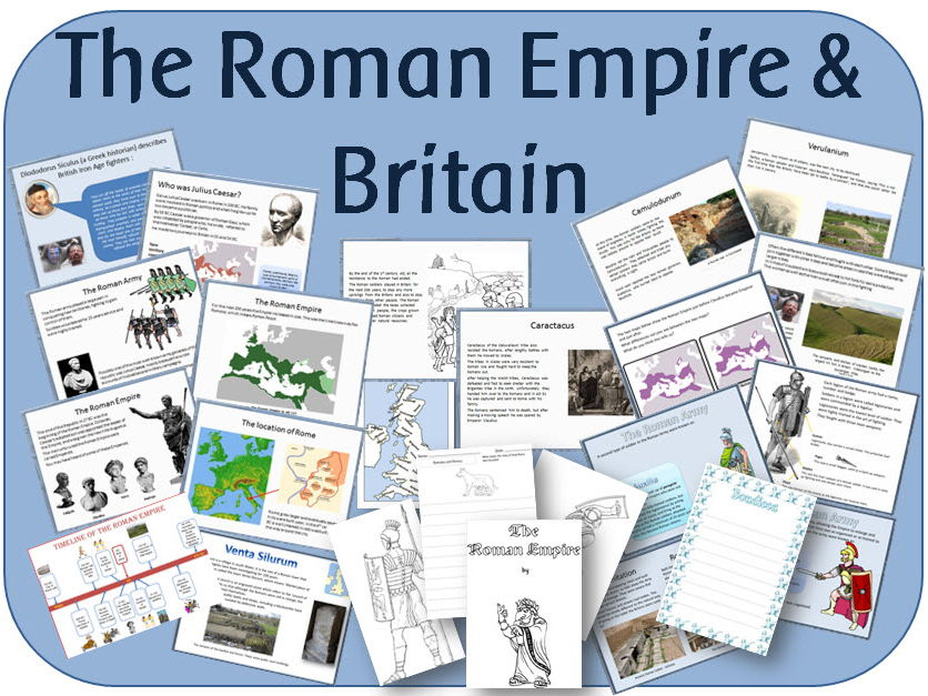 The Roman Empire and its impact on Britain pack - Powerpoints , activities and worksheets