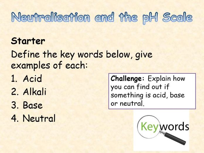 AQA Chemistry Topic 5: Neutralisation and the pH scale