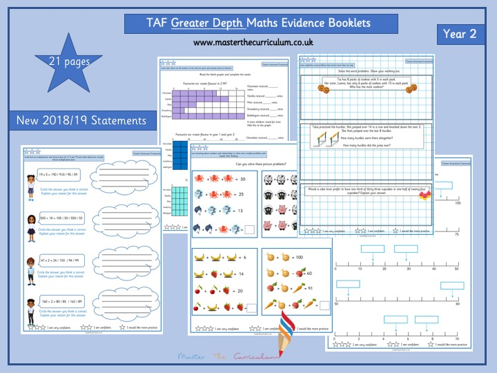 Year 2- Greater Depth TAF (Teacher Assessment Framework) Evidence Booklet