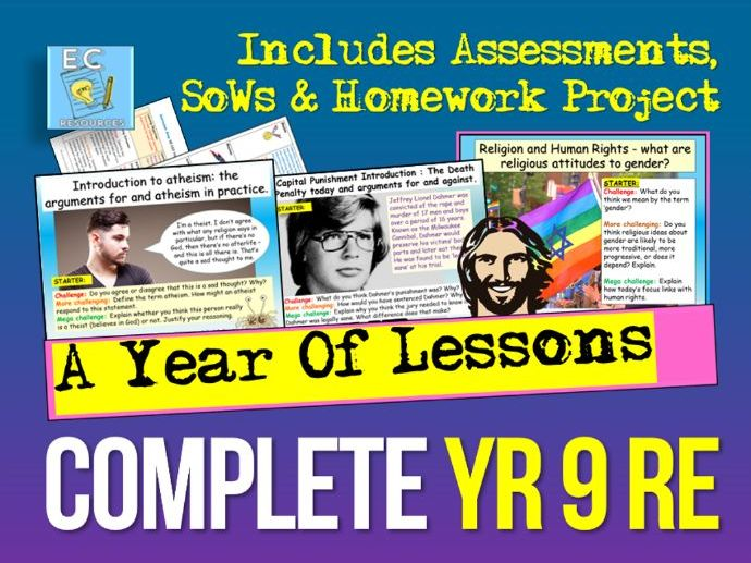 Complete Year 9 RE (in one download)