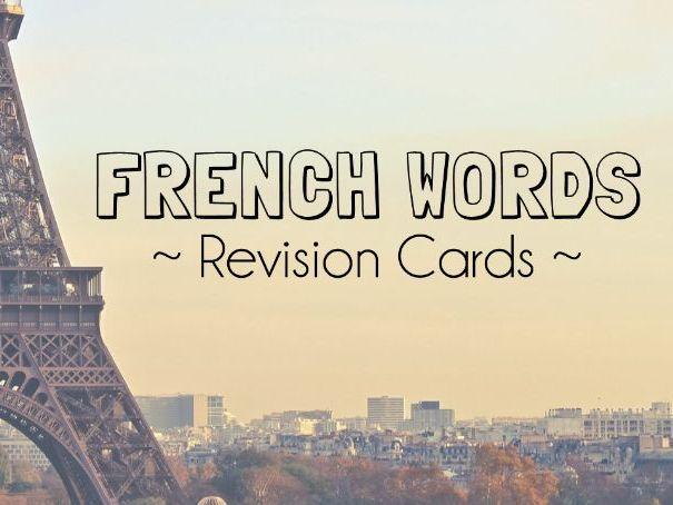 GCSE French Words and Phrases Revision Cards
