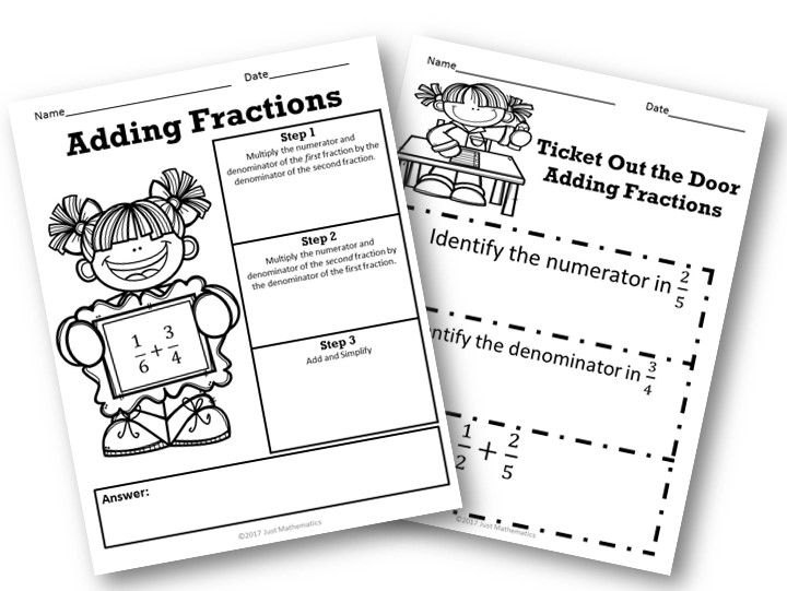 Adding Fractions Unlike Denominator