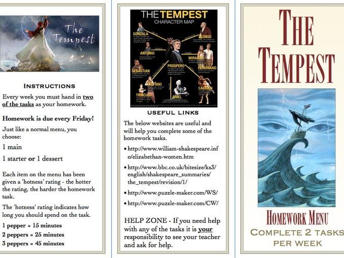 the tempest homework help