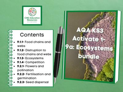 KS3 AQA Activate 1- 9a Ecosystems bundle