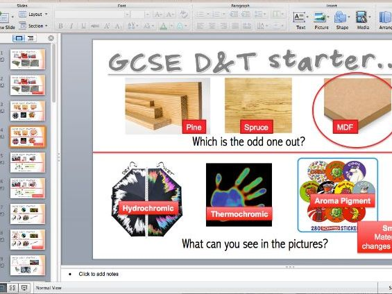 GCSE Design & Technology starters