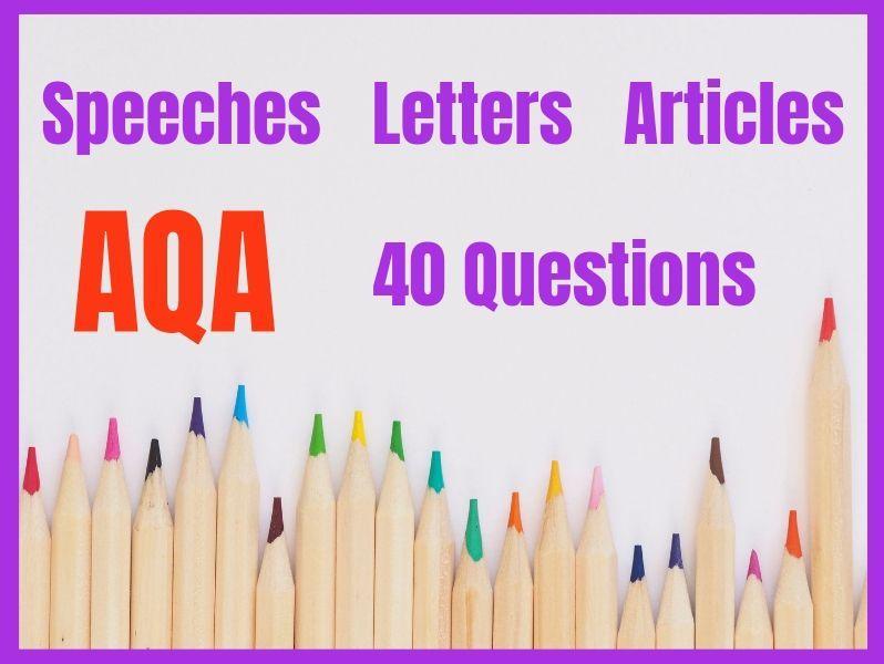 Transactional Writing AQA Exam Questions