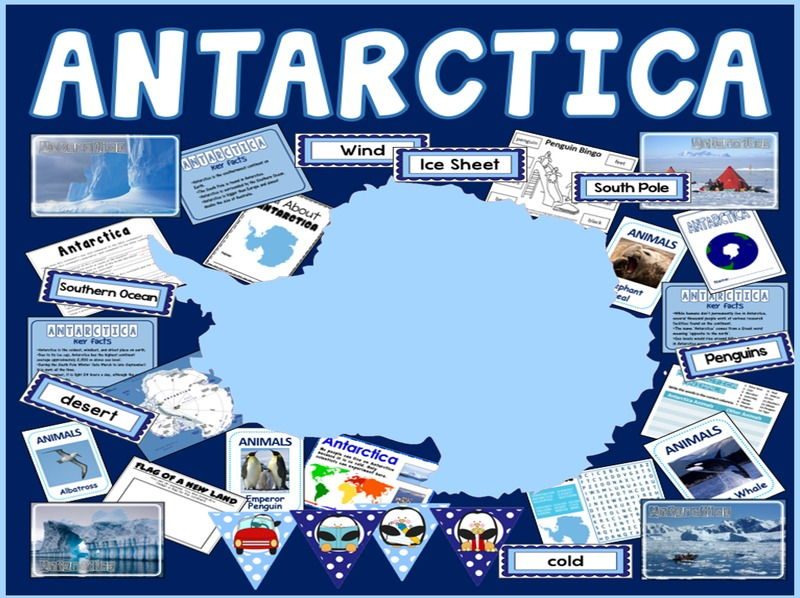 ANTARCTICA TEACHING RESOURCES - GEOGRAPHY, DISPLAY, INFO, WORLD, CONTINENT